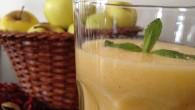 Una rica y fácil receta de Smoothie - Zumo de nectarina y manzana es totalmente natural y llena de vitaminas. En el desayuno acompañado de pan tostado con mantequilla y mermelada o una bollería casera es una verdadera delicia.